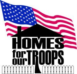 Homes for our troops Logo and link to website