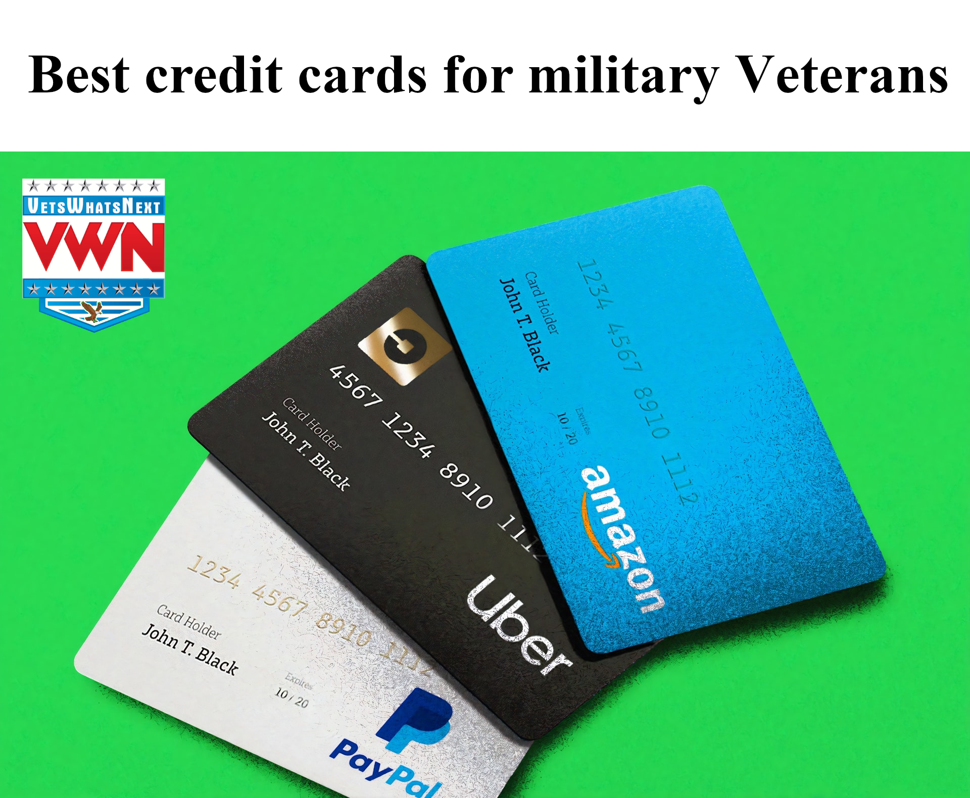 Best credit cards for military veterans | Vets Whats Next