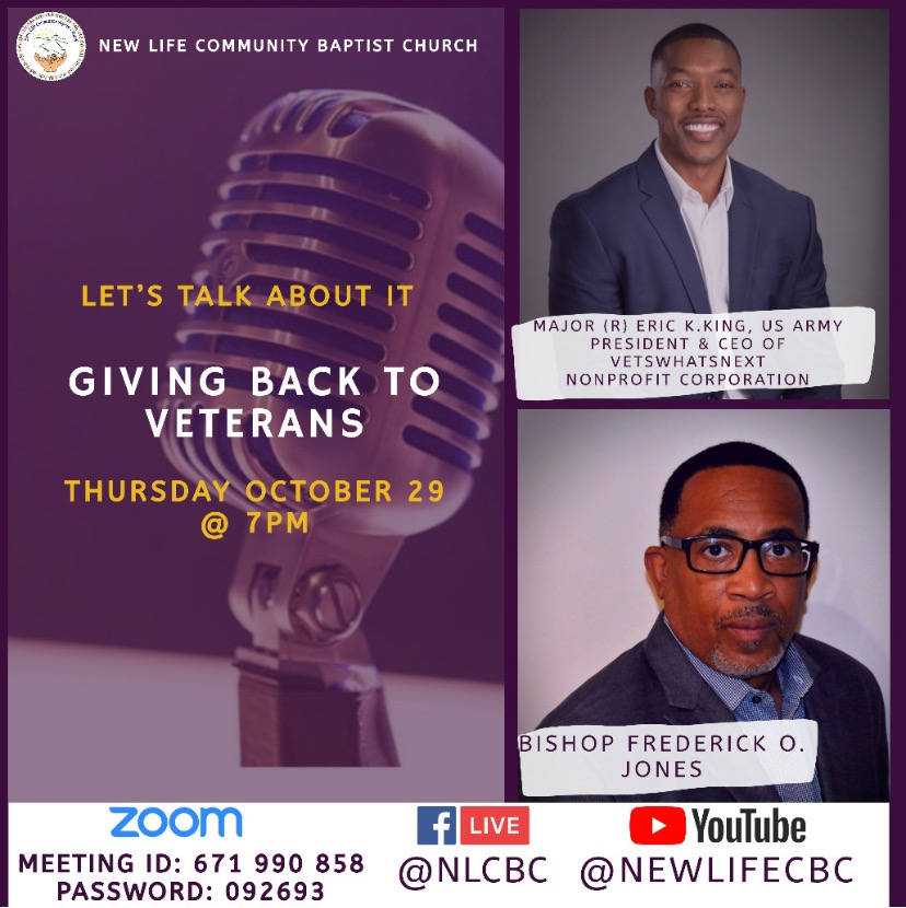 Let's Talk About It – Giving Back to Veterans Zoom Podcast: