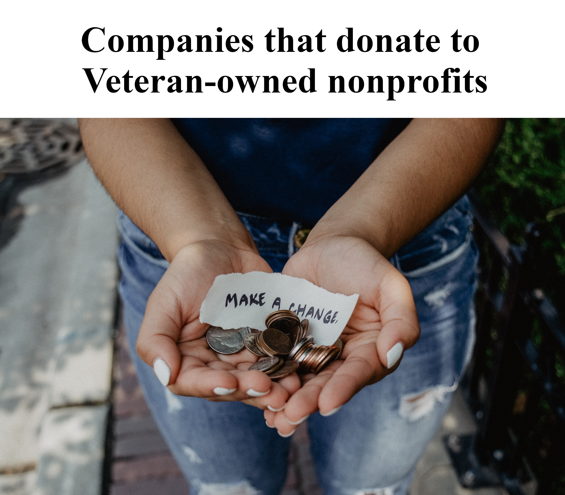 Companies that donate to Veteran-owned nonprofits